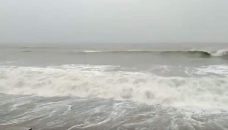 A dam breaks out due to high tide in Digha