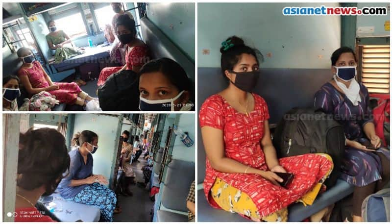 Keralites returning in special train returning from punjab in peril no food and water