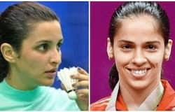 <p>Parineethi Chopra and Saina</p>
