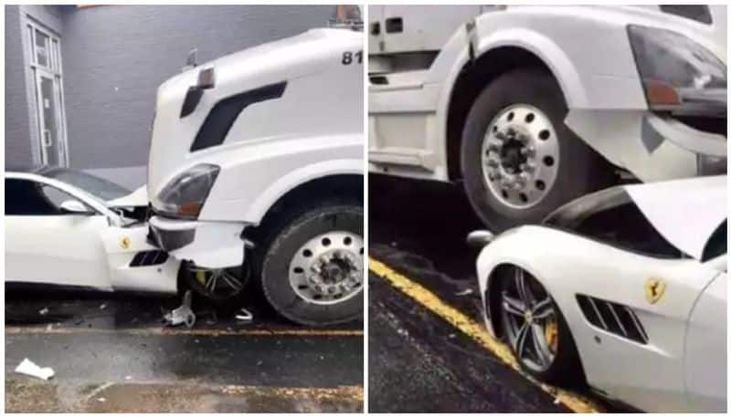 Employee rams his truck against boss Ferrari due to salary issue