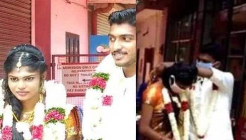 marriage conducted in Kerala tamilnadu check post amid covid lockdown