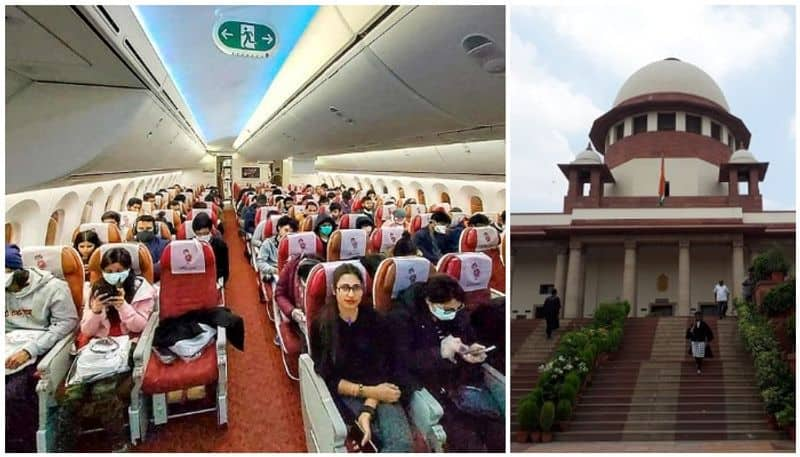 empty middle seats on air india flights after june 6 says supreme court
