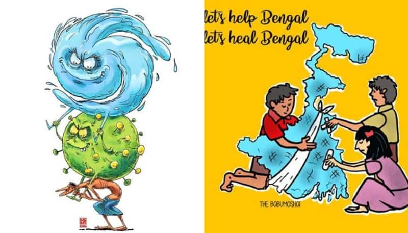The colorful illustrations full of hope for Super cyclone Amphan devastated Bengal