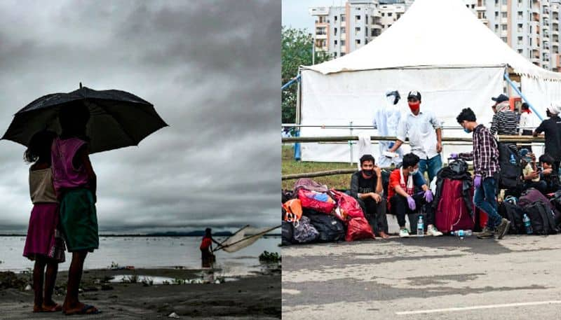 Flood hits over 10,000 people in Assam amid spike in coronavirus cases