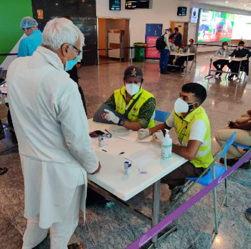 Ground staff of airport is infected by Covid 19