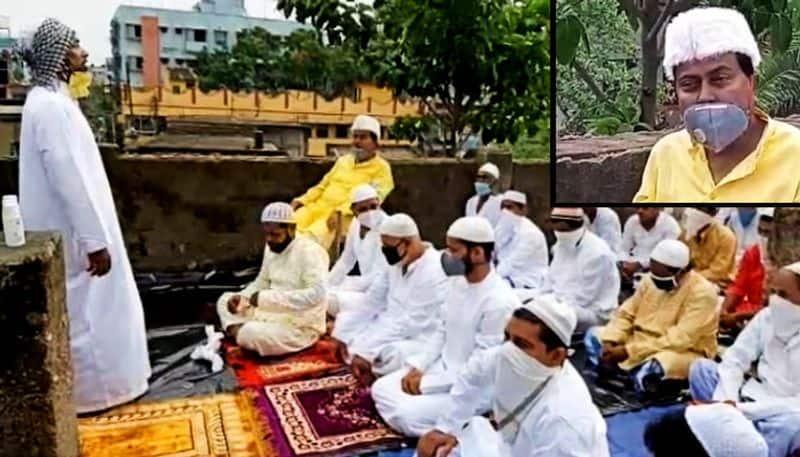 TMC MLA Idris Ali takes part in Eid Namaz in a congregation of 500 people in Uluberia