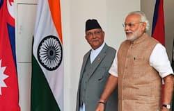 <p>Narendra Modi with KP Sharma Oli</p>