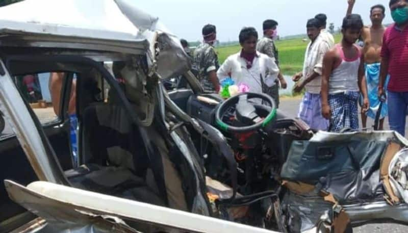 One migrant labourer died in road accident in Keshpur