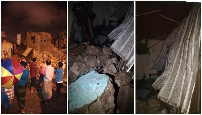 one died and three injured in building collapse in oman