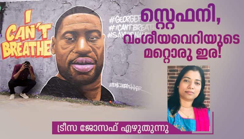 George Floyd US racism  black lives column by Theresa joseph