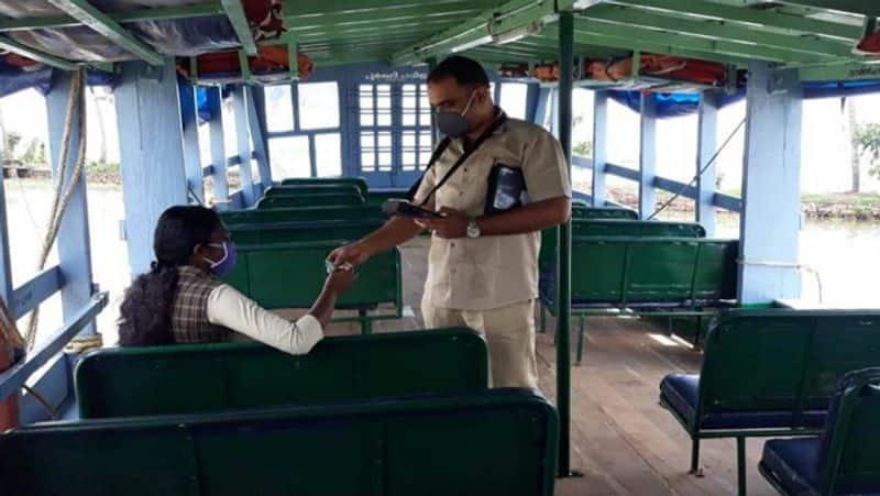 amid lockdown kerala govt boat ferry  a girl to exam center