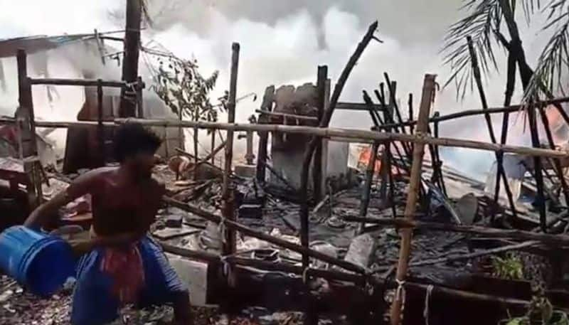 Fire breaks out near Chinar park
