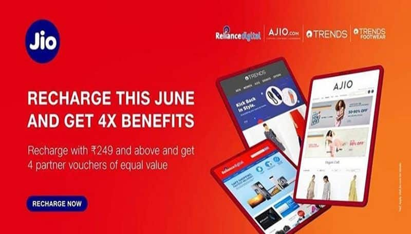 Jio Big Offer Recharge This June and Get 4x benefits