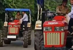 Watch: MS Dhoni drives his 'newest beast' tractor in Ranchi