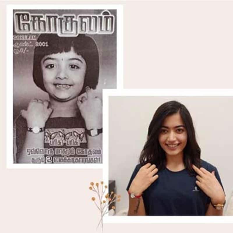 Rashmika mandanna on cover page of gokulam magazine