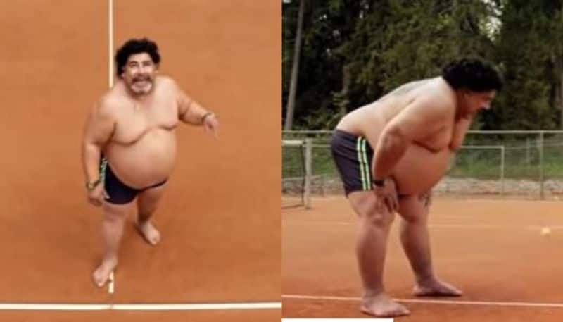 The man who kick the tennis ball in viral video this is not Maradona