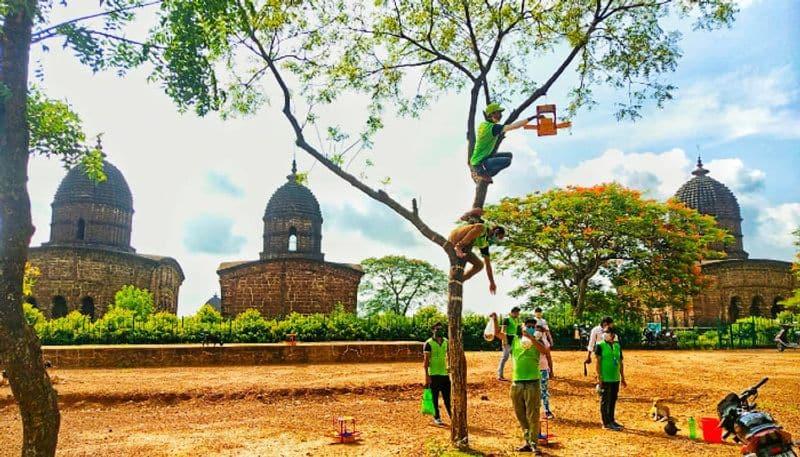 Bishnupur birds gets new nests on World Enviornment Day 2020