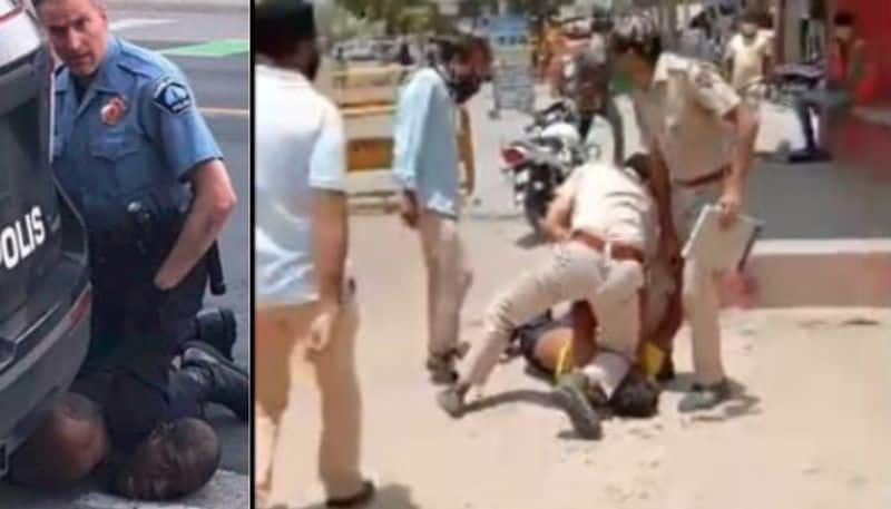 George Floyed moment, Rajasthan cop kneels down on man's neck, watch Video