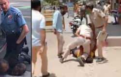 <p>Rajasthan cop kneels down on man's neck for not wearing mask in public</p>