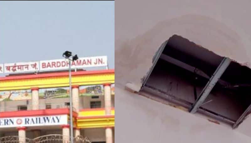 False Ceiling of portico collapsed in Burdwan, one injured