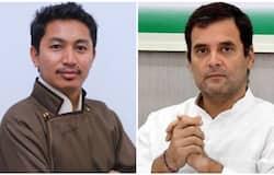 <p>rahul gandhi Jamyang Tsering Namgyal</p>