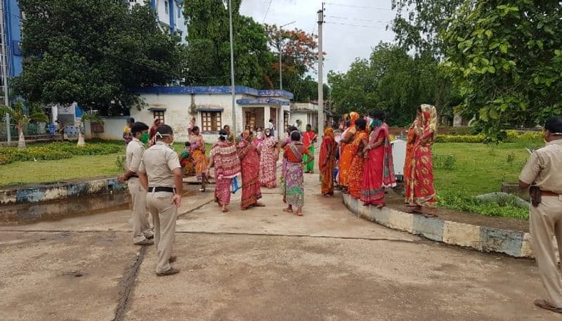 Locals stage protest against Corona hospital in Salboni at West Midnapore