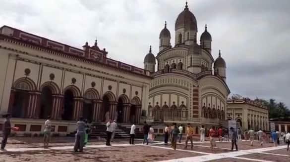 Dakshineswar temple has been opened on Thursday RTB