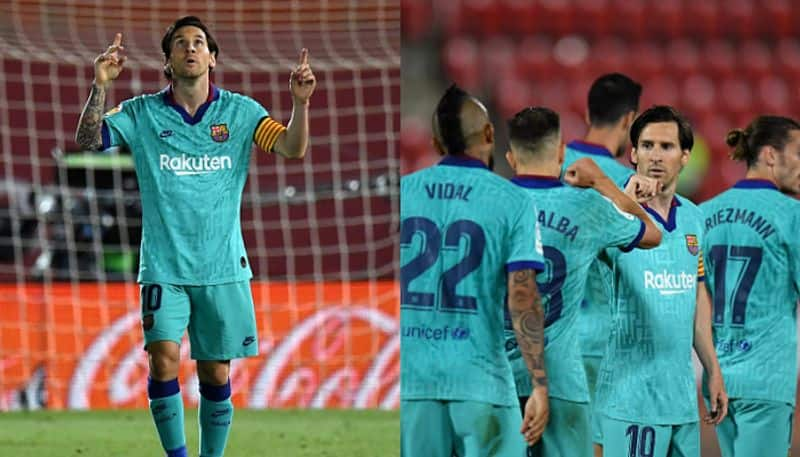 Barcelona started with a 4-0 victory, Messi scored a goal and  two assists