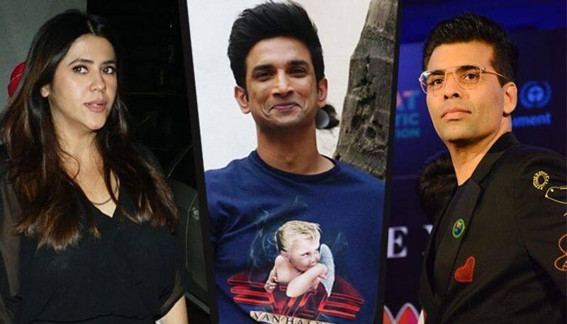 Ekta Kapoor and Karan Johar Reaction on Sushant Singh Rajput death