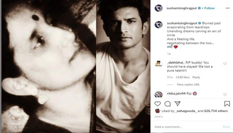 Actor sushant singh rajput last Social Media post