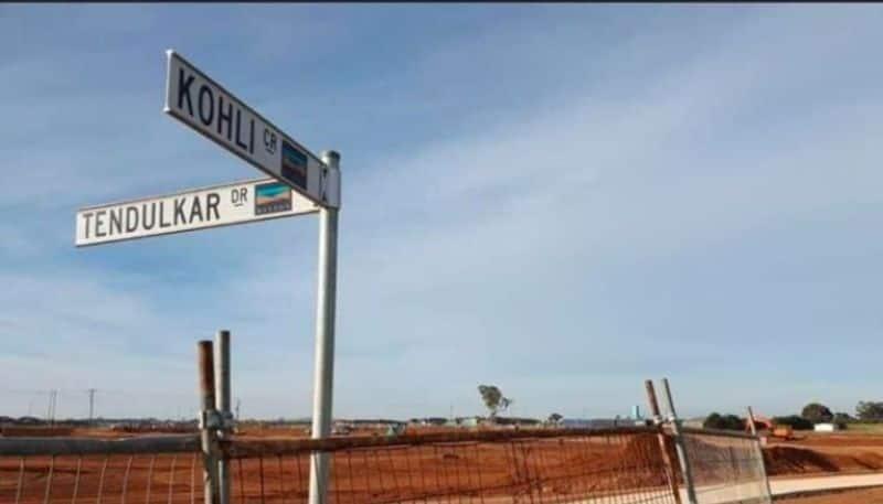 Roads in the name of Kapil Dev, Sachin Tendulkar and Virat Kohli in Melbourne, Australia