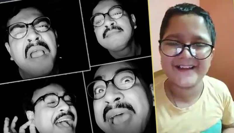 a child goes viral reciting rudranil ghosh poem  JC