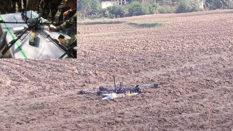 Jammu and Kashmir BSF shoots down Pakistan spy drone carrying weapons