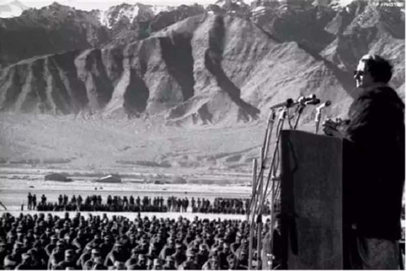 Fact check of Indira Gandhi addressing Soldiers at Galwan valley