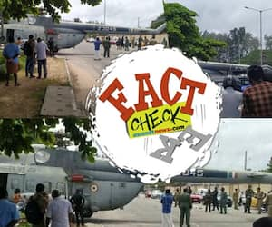 reality of claim airforce helicopter lose control and landed in main road near thiruvananthapuram airport