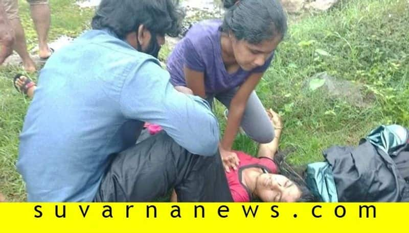 First Aid Given By 15 Year Old Girl Saves The Life Of A Lady In Udupi