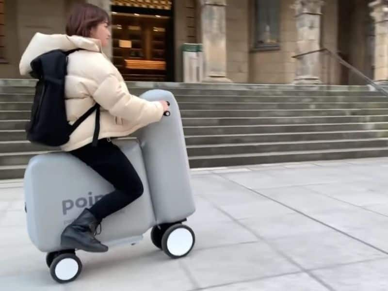 Japana student developed Portable Inflatable MObility electric scooter