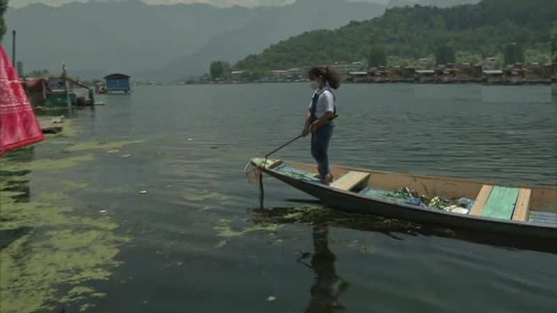 Dal lake cleaning 7 year old girl story published in Hyderabad textbook