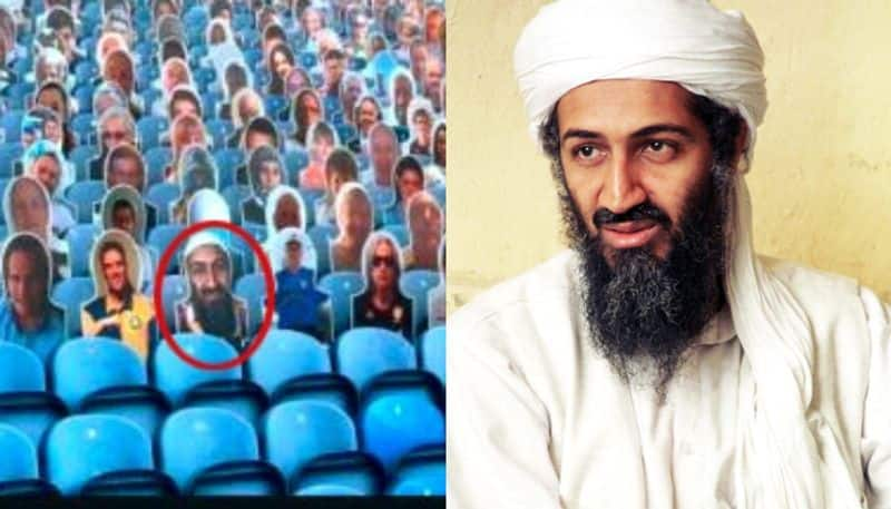 A cutout of Osama bin Laden in Leeds United stands, club authorities apologized sp