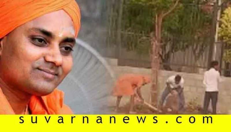 Gavimath Sri Did Work in Ground in Koppal