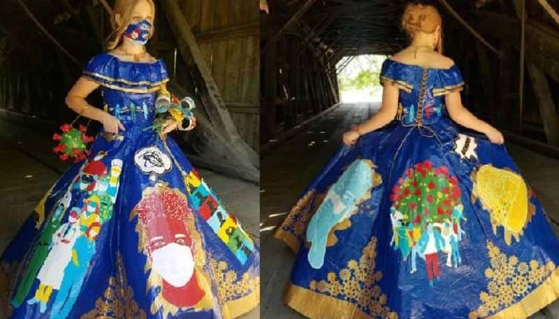 400 Hours Making a covid Themed gown