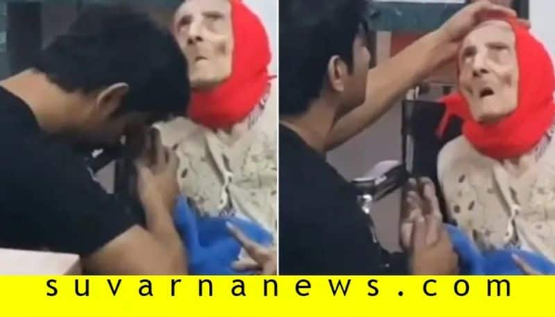 Old Video Of Bollywood Actor Sushant Singh Rajput with old lady Goes Viral