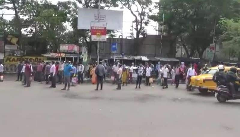 Passengers got into trouble on Monday due to shortage of private buses in Kolkata RT