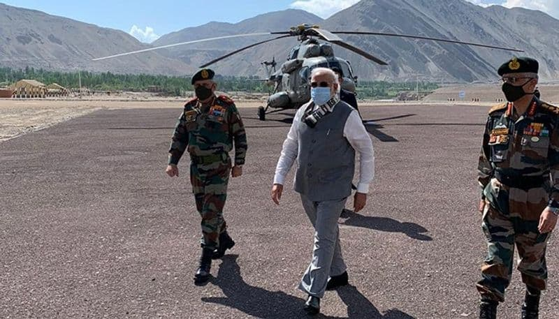 pm surprise visit in leh on  Friday morning bsm