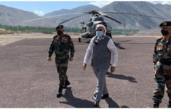 <p>PM Modi reached Leh around 9.30 am, sources said.</p>