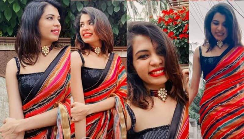 diya krishna s saree photos viral