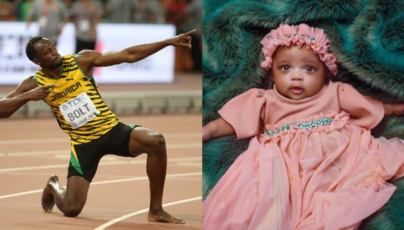 Usain Bolt unveiled a picture of his daughter for the first time on his girlfriend's birthday bsp