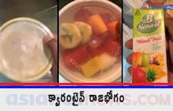 <p>Food Given To foreign returnees in institutional quarantine</p>