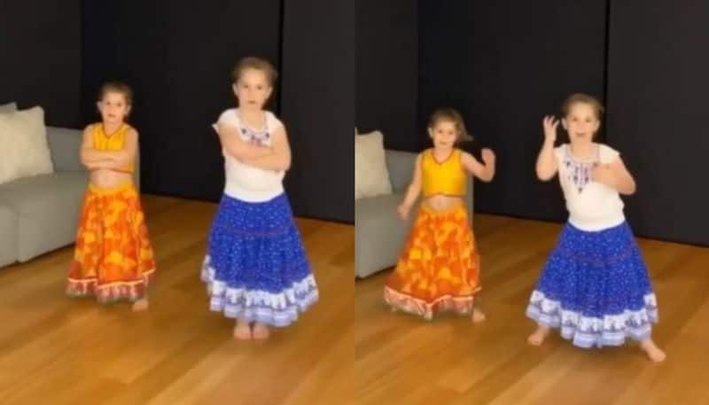 David Warner shared a video of his two daughters dancing in a bollywood song