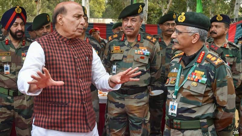 Defense Minister Rajnath Singh arrives amidst dispute with China on border